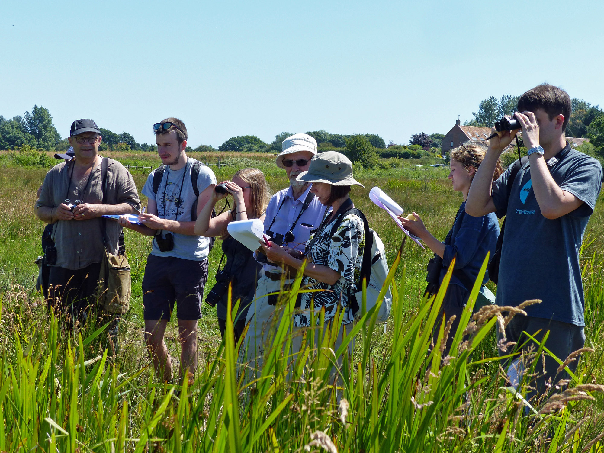 Some of the Carlton Marshes surveyors training in 2018