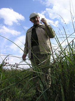 The late and great arachnologist and conservationist Dr Eric Duffey on a visit to Redgrave & Lopham Fen in 2004